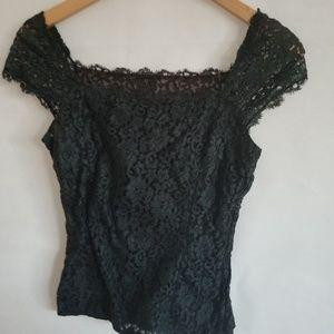 1980s Unlabeled Black Lace, Rockabilly/Pinup Blous